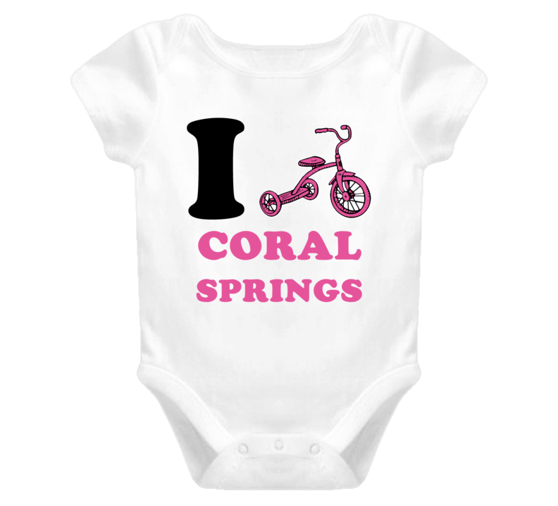 Coral Springs I Love Tricycle Baby Onepiece Bodysuit