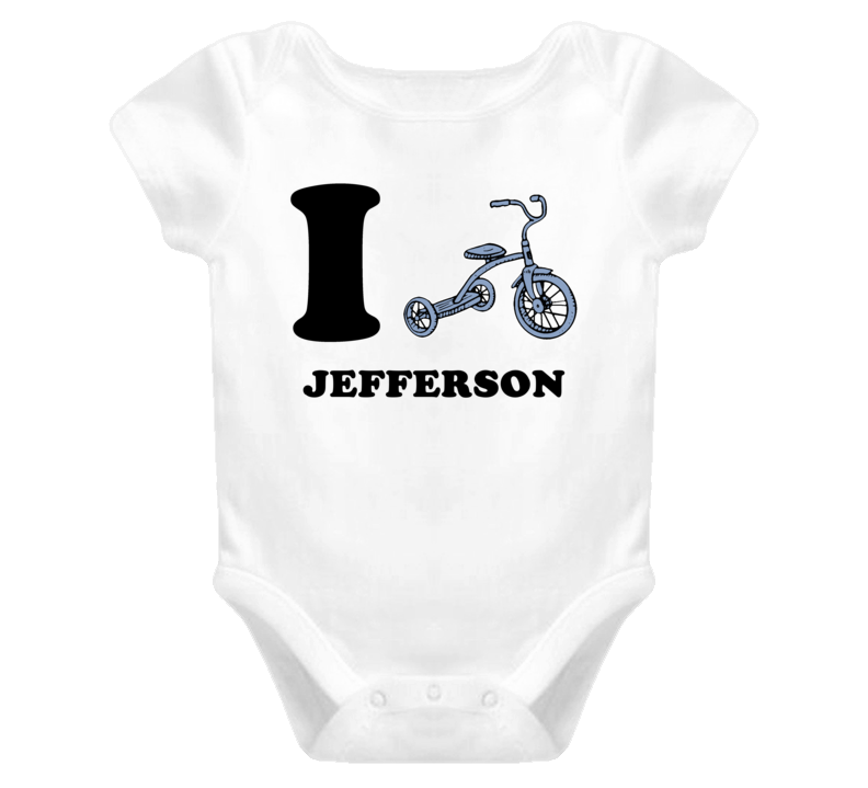 Jefferson I Love Tricycle Baby One Piece Bodysuit