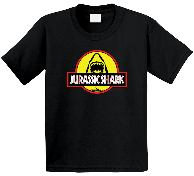 Jurassic Shark Week Jurassic Park Movie Logo Parody Mashup Fan Kids T Shirt