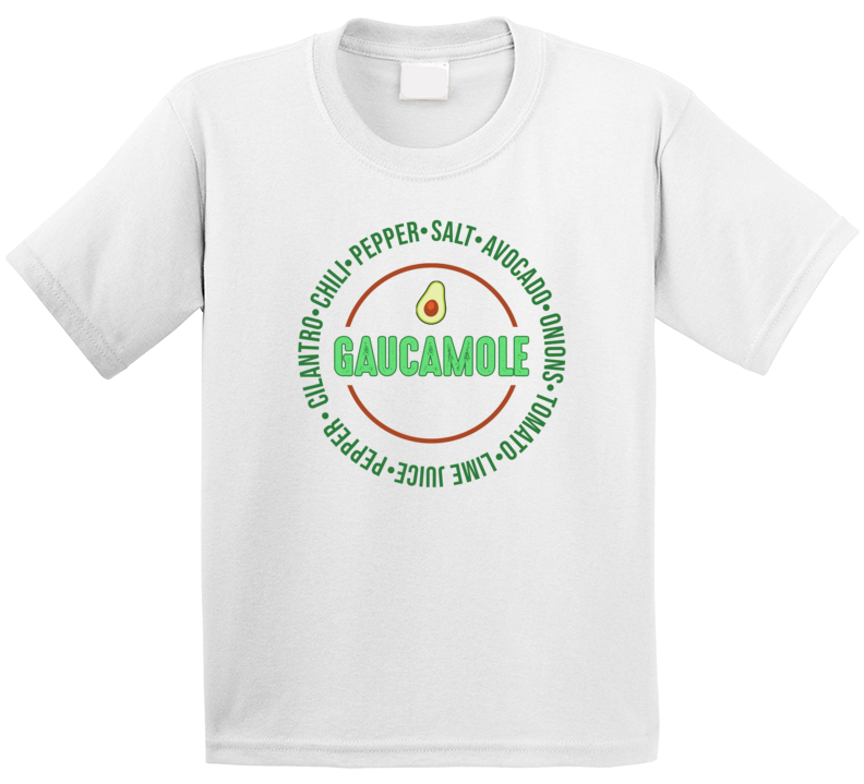 Guacamole Ingredients Recipe Funny Popular Condiment Dip Food Fan Kids T Shirt