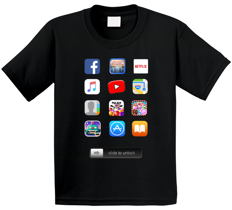 Ipad Screen Apps Costume Kids T Shirt