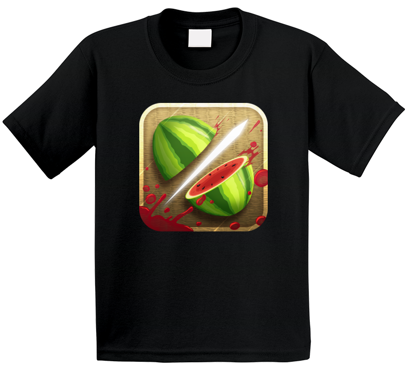 Fruit Ninja Cell Phone Mobile Game App Icon Logo Kids T Shirt
