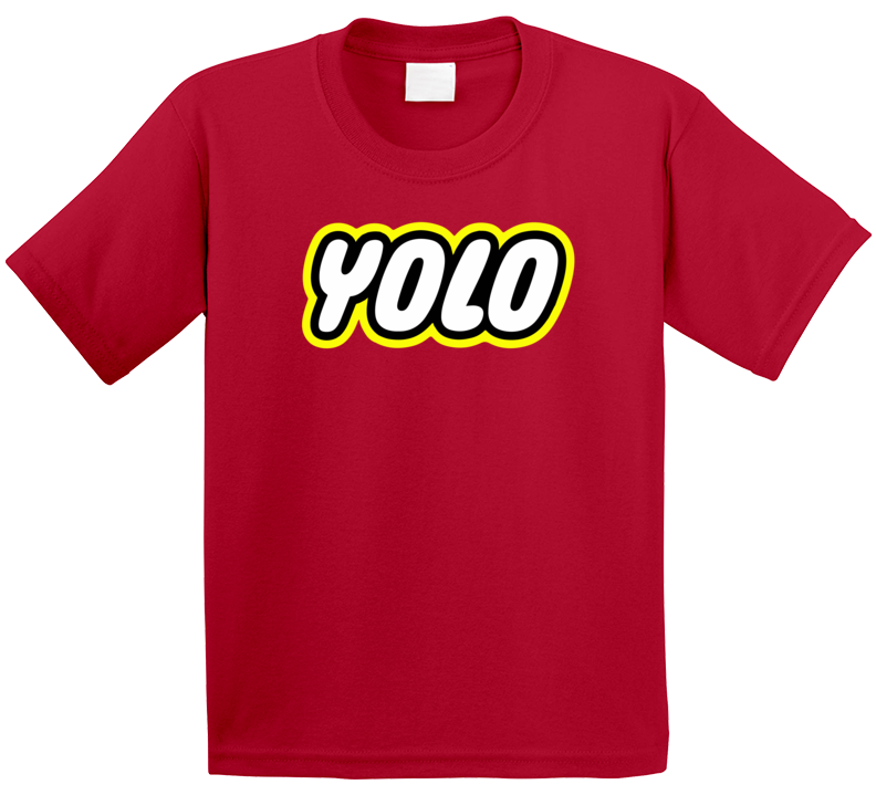 Yolo Lego Toy Logo Parody Inspirational You Only Live Once Quote Kids T Shirt