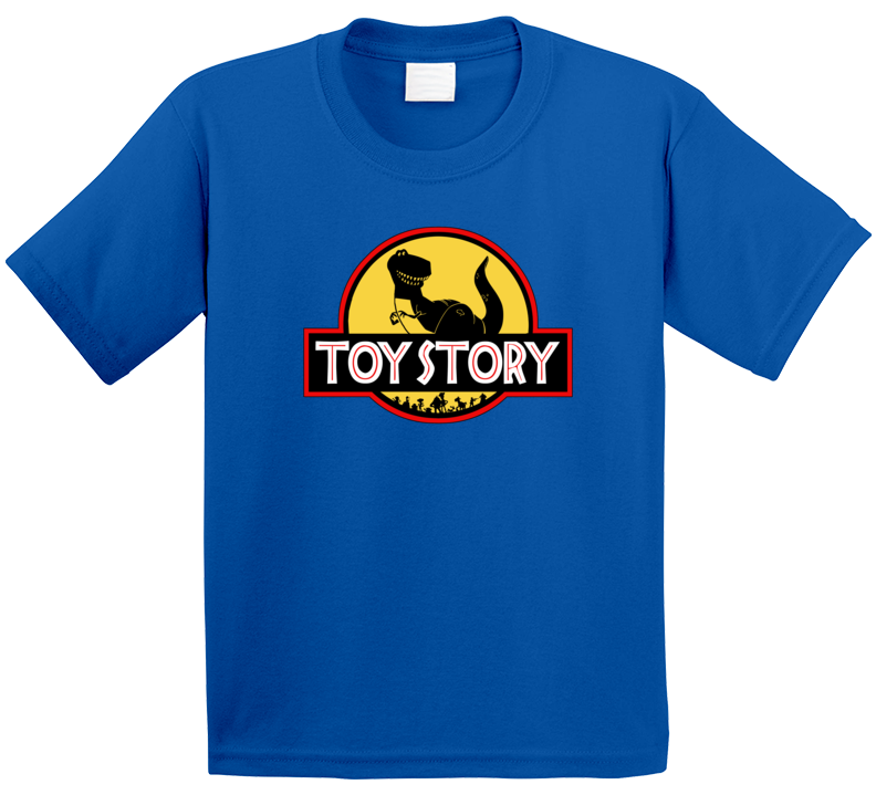Toy Story Jurassic Park Logo Parody Kids T Shirt