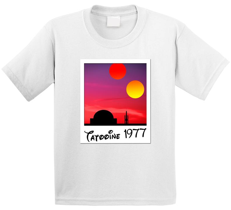Visit Tatooine Star Wars Planet Polaroid Retro Space Movie Geek Fan Kids T Shirt