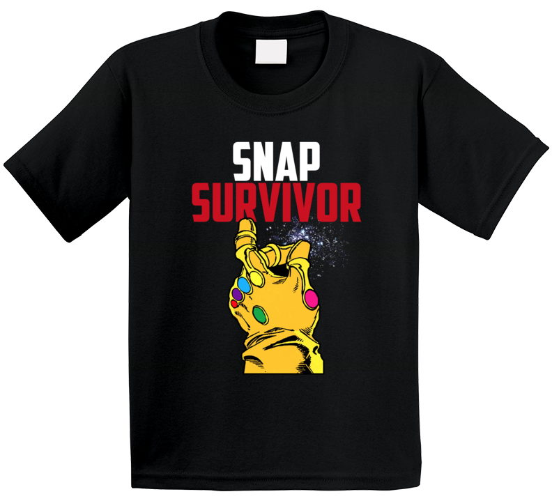 Snap Survivor Thanos Funny Avengers Villain Infinity Gauntlet Universe Kids T Shirt