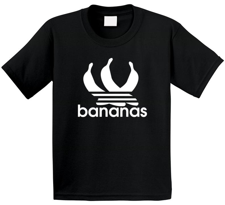 Bananas Adidas Logo Parody Tropical Fruit Athletic Kids T Shirt
