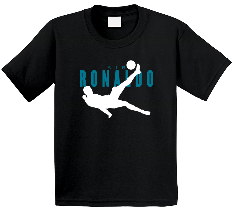 Air Christiano Ronaldo Bicycle Kick Real Madrid Football Soccer Fan Kids T Shirt