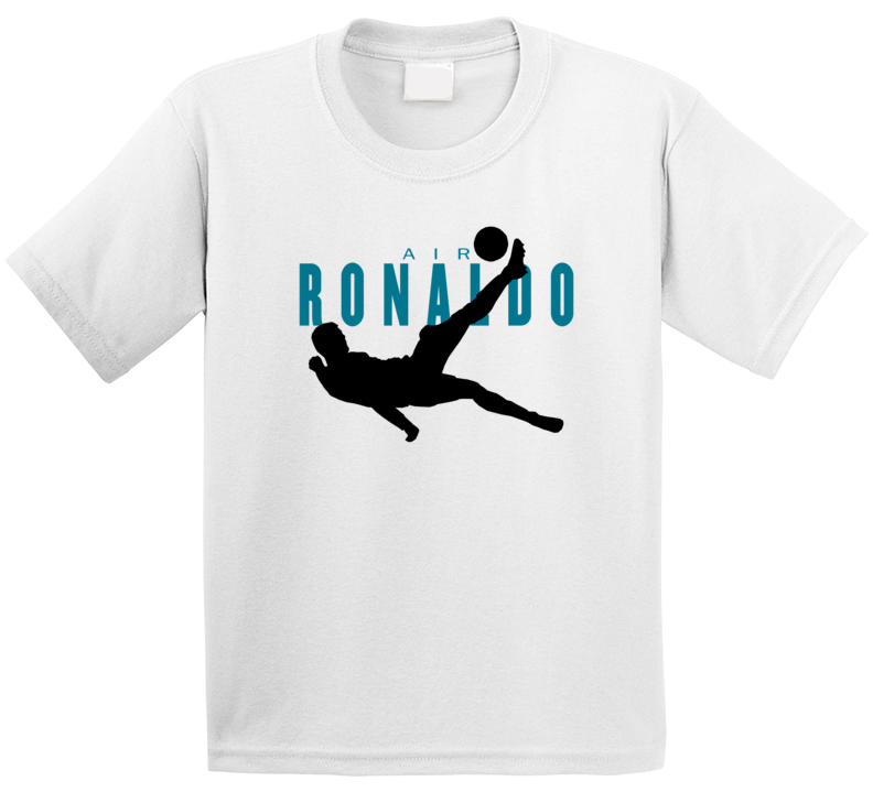 Air Christiano Ronaldo Bicycle Kick Real Madrid Football Soccer Player Fan Kids T Shirt