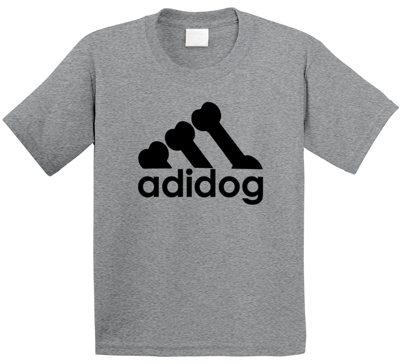 Adidog Adidas Logo Parody Kids T Shirt