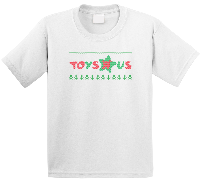 Toys R Us Logo Ugly Sweater Knitted Stitched Look Christmas Gift Kids T Shirt