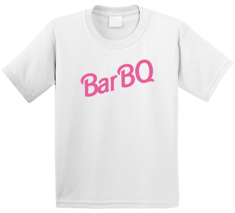 Bar Bq Bbq Barbie Logo Parody Grilling Kids T Shirt