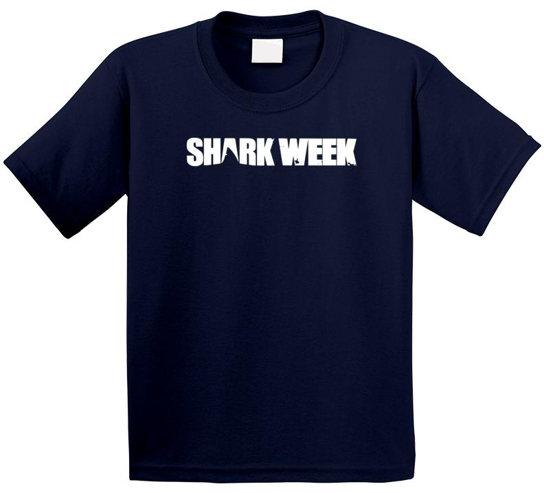 Shark Week Title Logo Network Trending Tv Show Fan Kids T Shirt