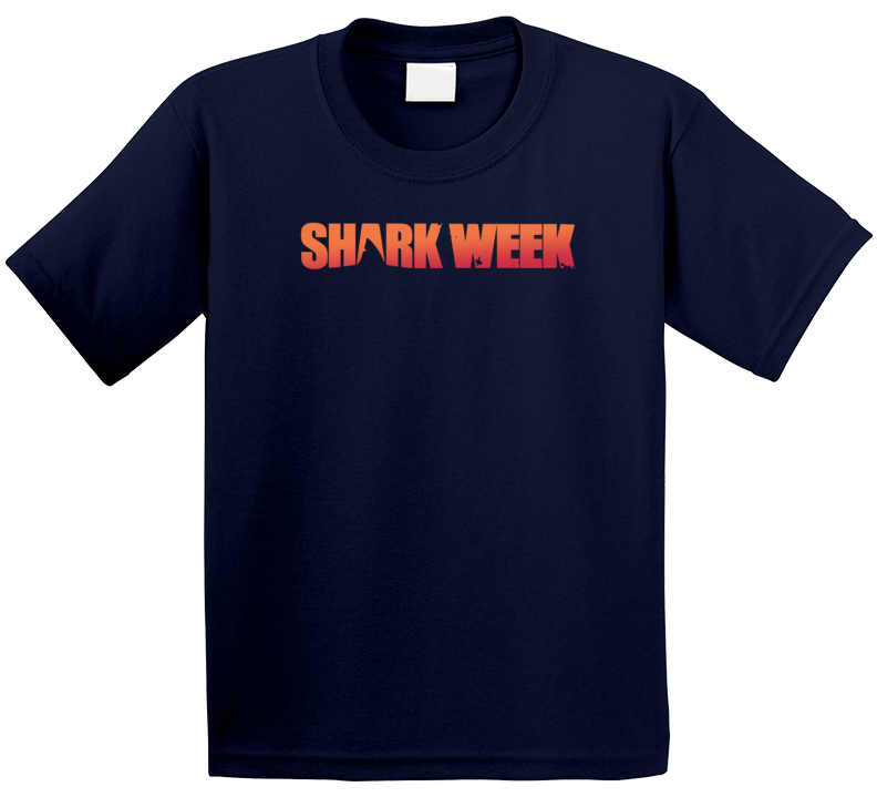 Shark Week Sunset Logo Network Trending Tv Show Fan Kids T Shirt