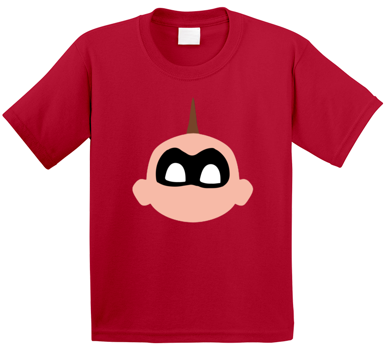 Jack Jack Face Mask Incredibles 2 Baby Powers Movie Fan Poster Kids T Shirt
