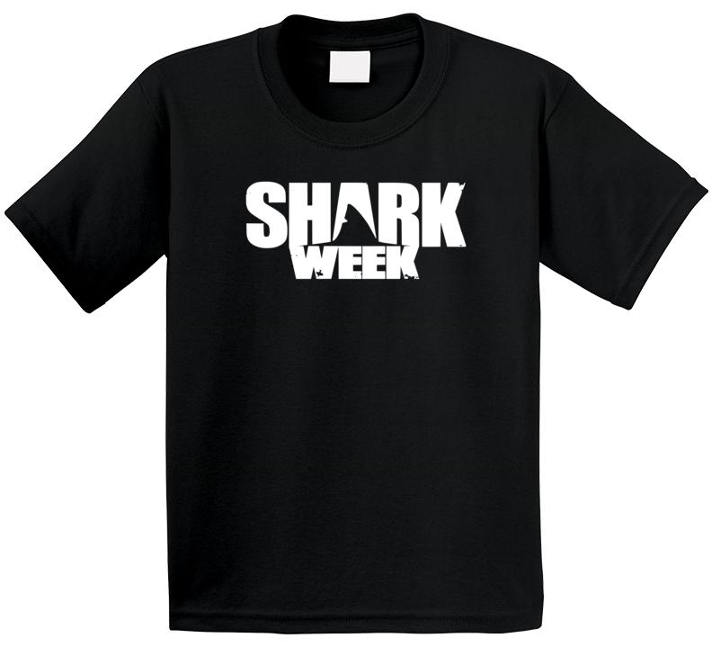 Shark Week Logo Poster Great White Network Trending Tv Show Fan Kids T Shirt