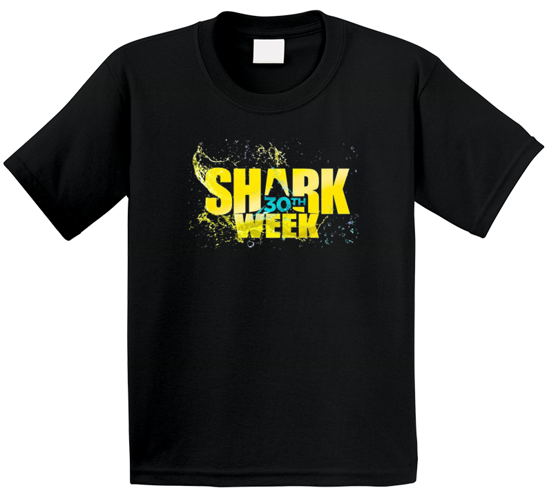 Shark Week 30 Years Logo Great White Network Trending Tv Show Fan Kids T Shirt