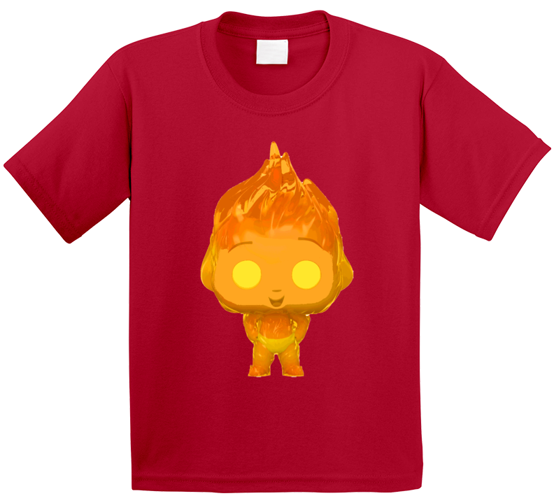 Jack Jack Attack Fire Flames Incredibles 2 Baby Powers Movie Fan Poster Kids T Shirt