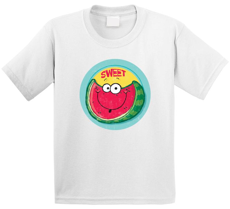 Sweet Watermelon Retro Scratch N Sniff Teacher Sticker Funny Novelty Kids T Shirt
