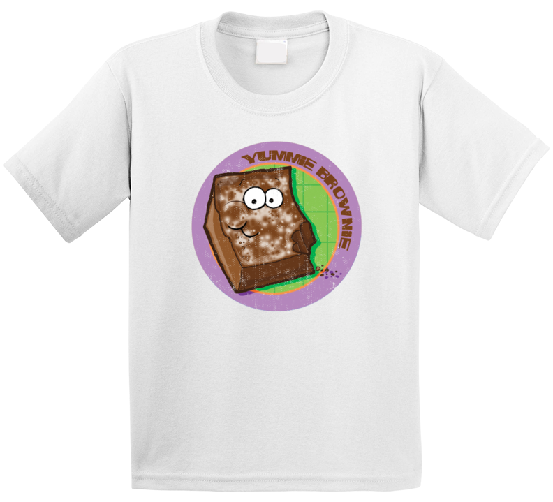 Yummie Brownie Retro Scratch N Sniff Teacher Sticker Funny Novelty Kids T Shirt