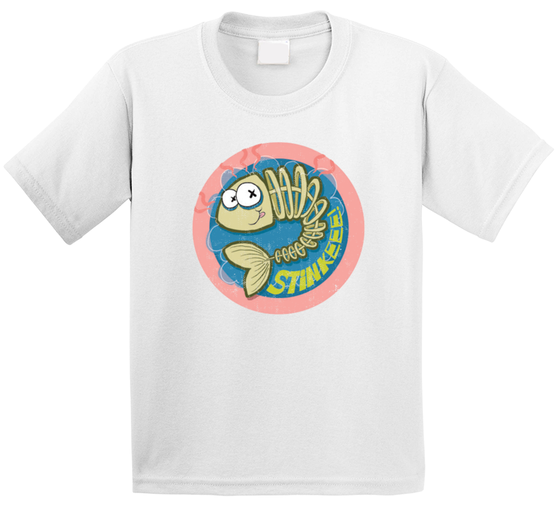 Stinky Dead Fish Retro Scratch N Sniff Teacher Sticker Funny Novelty Kids T Shirt