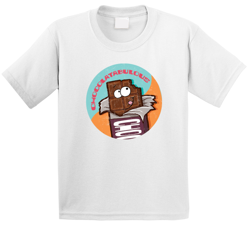 Chocolate Chocolatabulous Retro Scratch N Sniff Teacher Sticker Funny Novelty Kids T Shirt