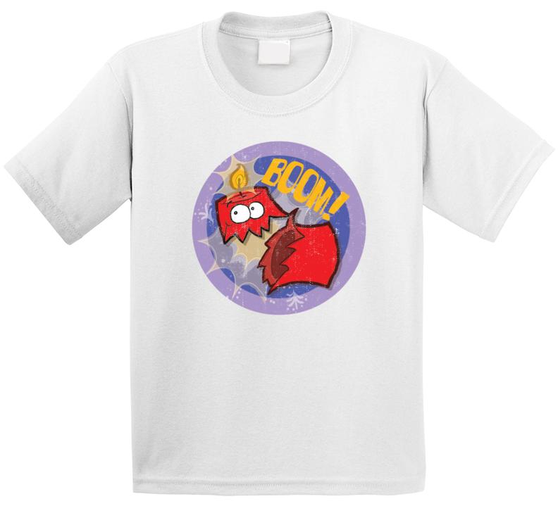 Boom Dynamite Retro Scratch N Sniff Teacher Sticker Funny Novelty Kids T Shirt
