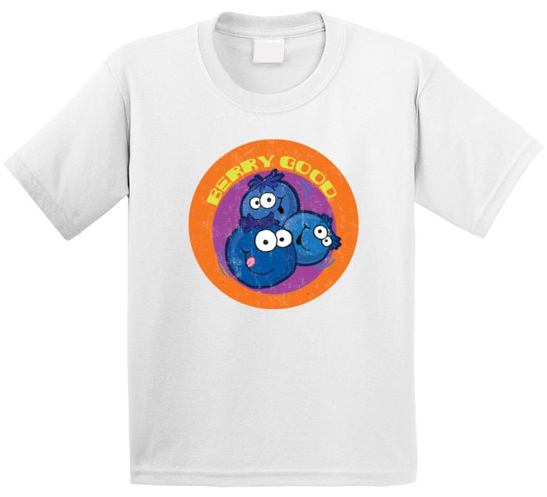 Berry Good Retro Scratch N Sniff Teacher Sticker Funny Novelty Kids T Shirt