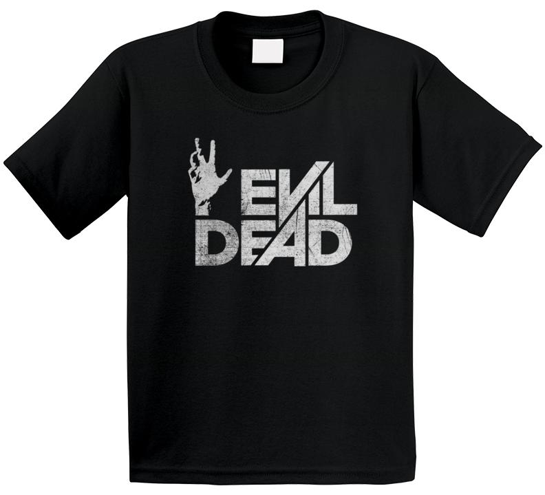 Evil Dead Logo The Goldbergs Retro 80s Tv Show Vintage Distressed Look Kids T Shirt