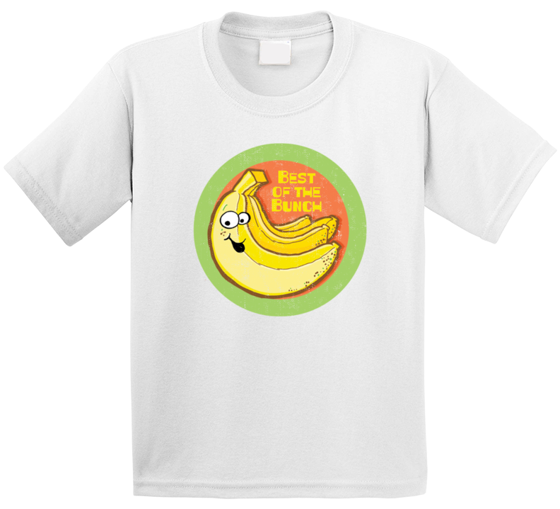 Banana Best Of Bunch Retro Scratch N Sniff Teacher Sticker Funny Novelty Kids T Shirt