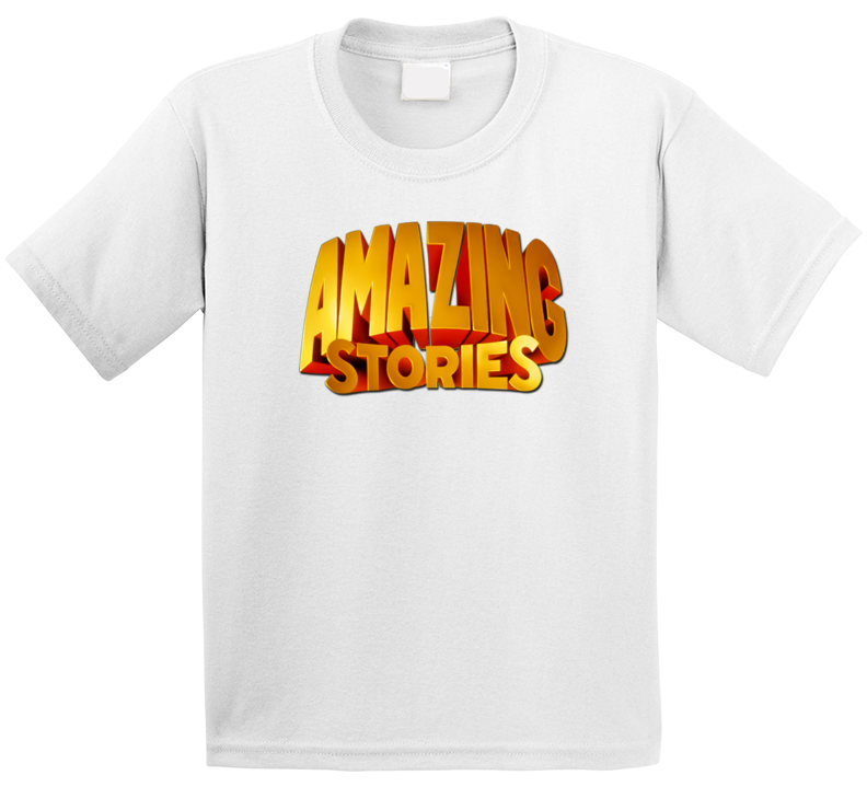 Amazing Stories Title Logo The Goldbergs Retro 80s Tv Show Vintage Distressed Look Kids T Shirt