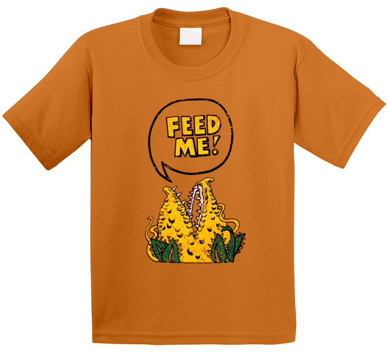Feed Me Little Shop Of Horrors The Goldbergs Retro 80s Tv Show Vintage Distressed Look Kids T Shirt