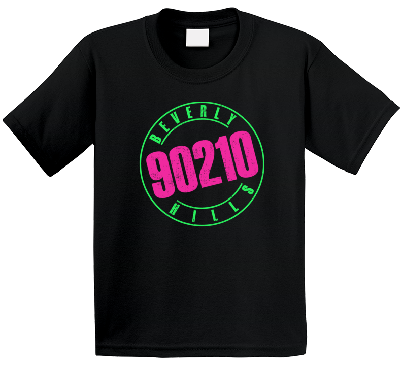 Beverly Hills 90210 Retro Vintge Tv Show Logo Fan Kids T Shirt