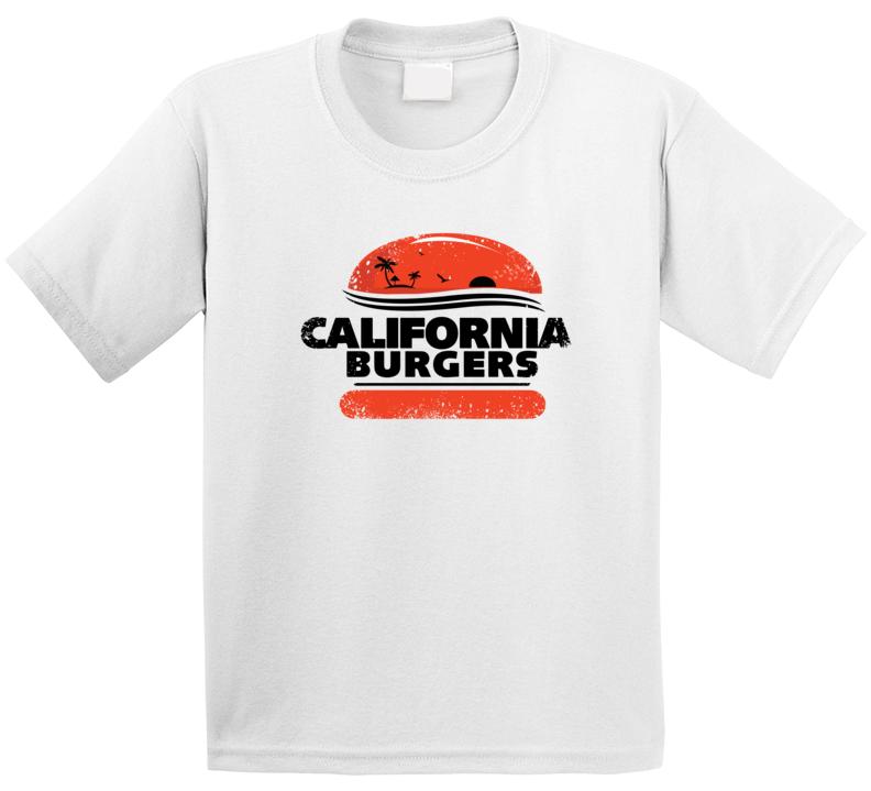 California Burgers Restaurant Grill Logo Kids T Shirt