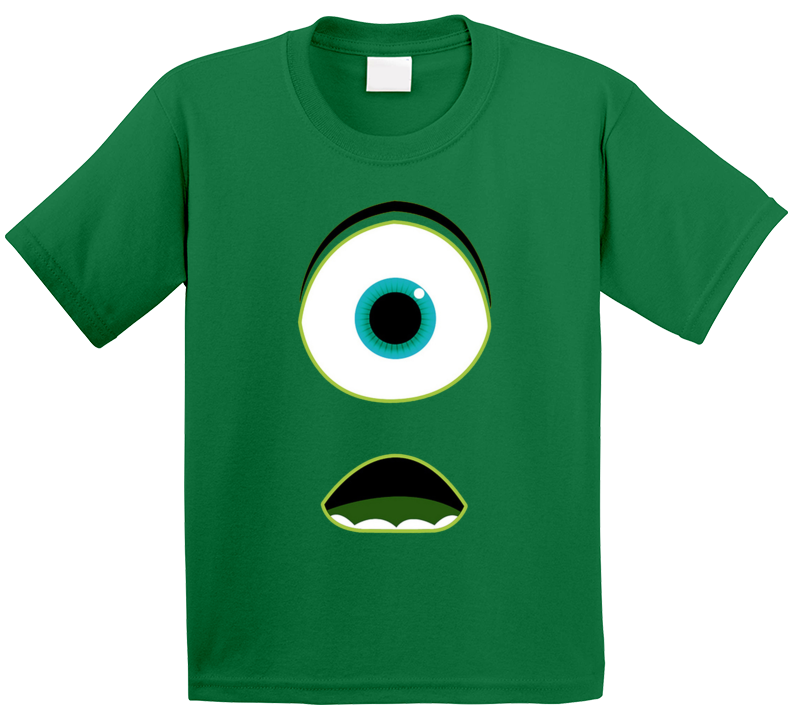 Mike Wazowski Face Monsters Inc Monster Movie Kids T Shirt