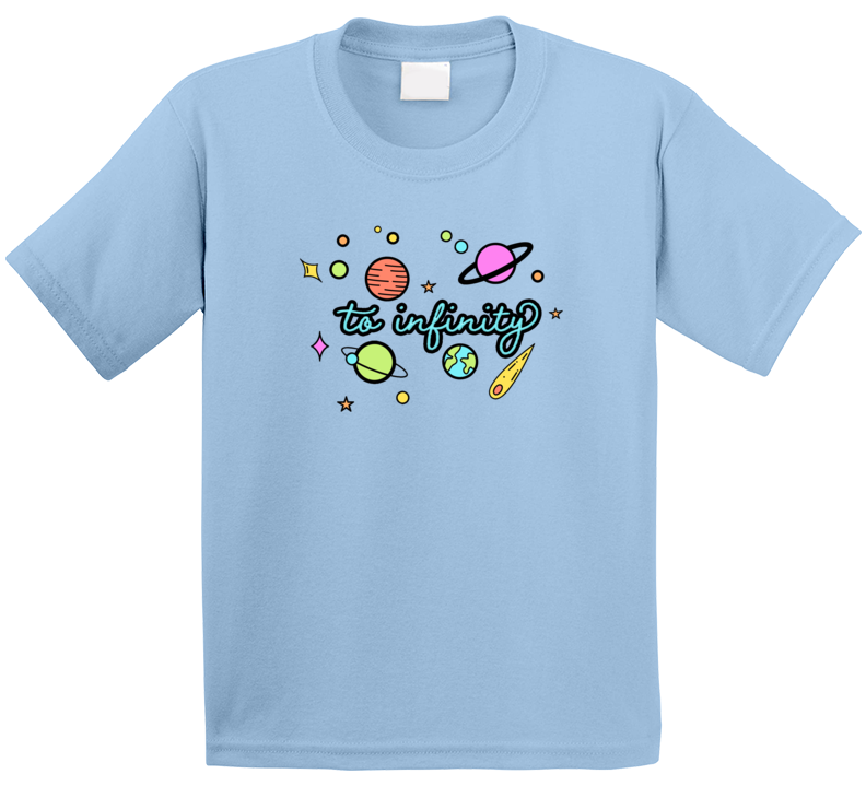 Cute Space Galaxy To Infinity Kids T Shirt