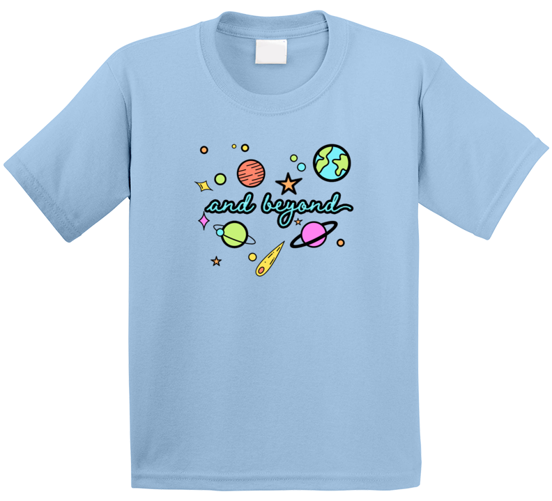 Cute Space Galaxy And Beyond Kids T Shirt