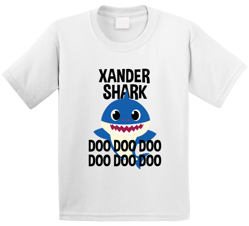 Xander Shark Doo Doo Doo Baby Shark Popular Childrens Show Personalized T Shirt