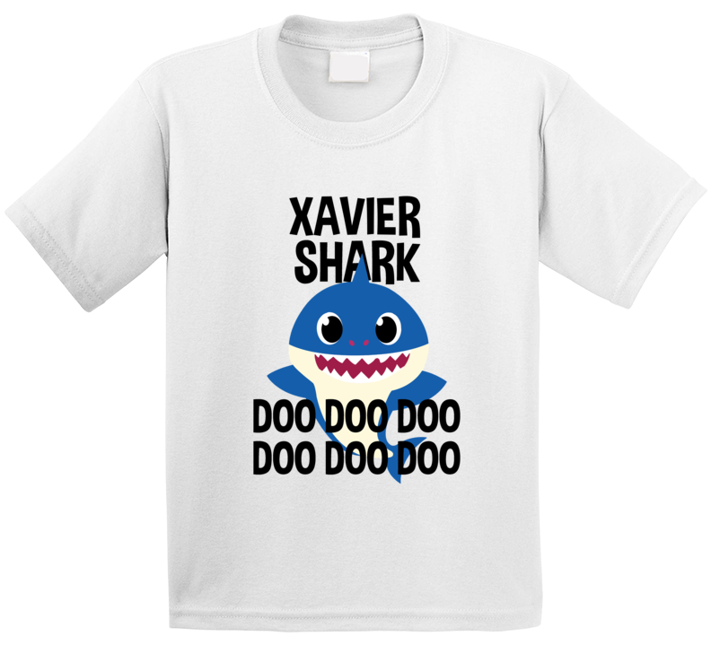 Xavier Shark Doo Doo Doo Baby Shark Popular Childrens Show Personalized T Shirt