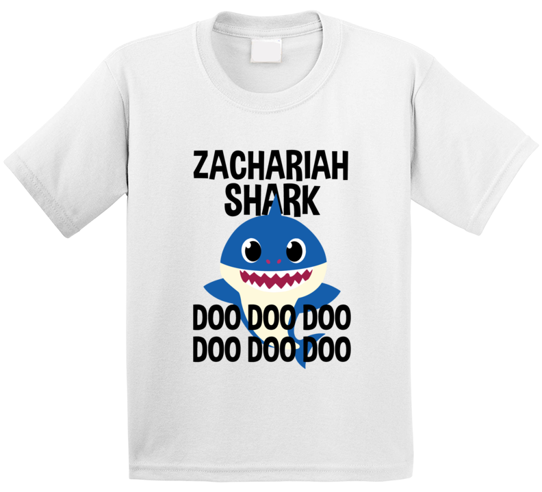 Zachariah Shark Doo Doo Doo Baby Shark Popular Childrens Show Personalized T Shirt