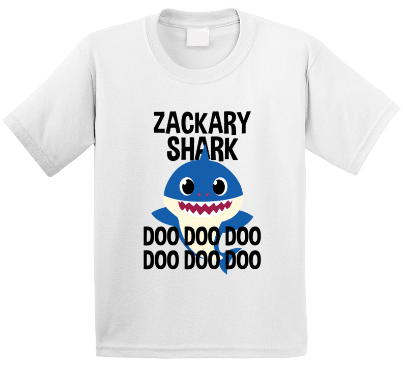 Zackary Shark Doo Doo Doo Baby Shark Popular Childrens Show Personalized T Shirt