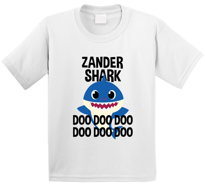 Zander Shark Doo Doo Doo Baby Shark Popular Childrens Show Personalized T Shirt