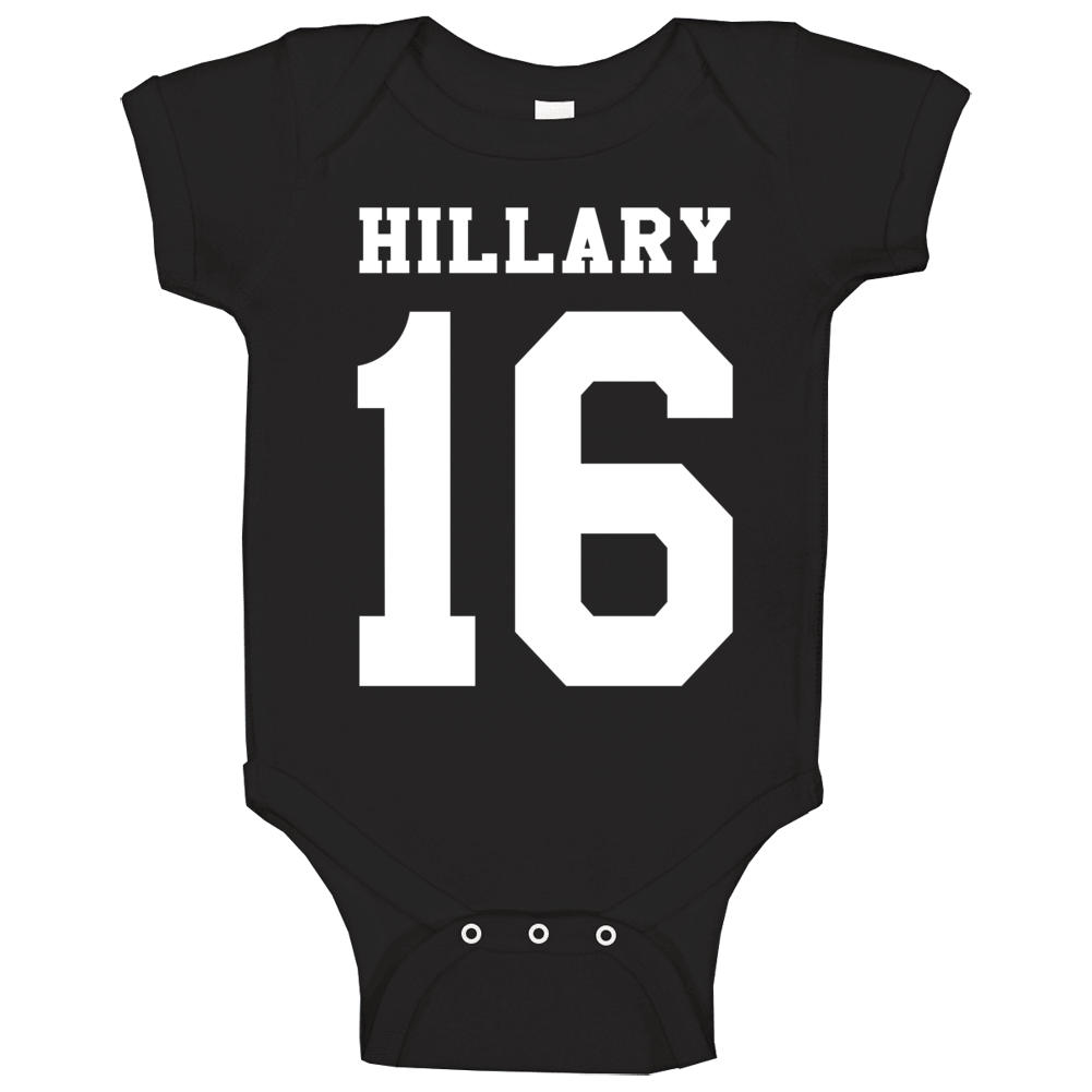 Hillary Clinton For President Campaign Jersey Style Baby One Piece