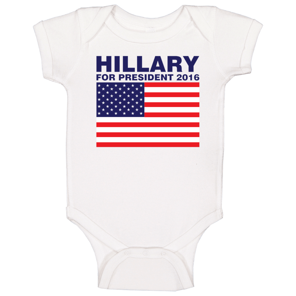 Hillary For President 2016 Clinton Campaign Baby One Piece