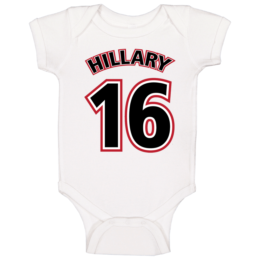 Hillary Clinton 16 For President Campaign Baby One Piece