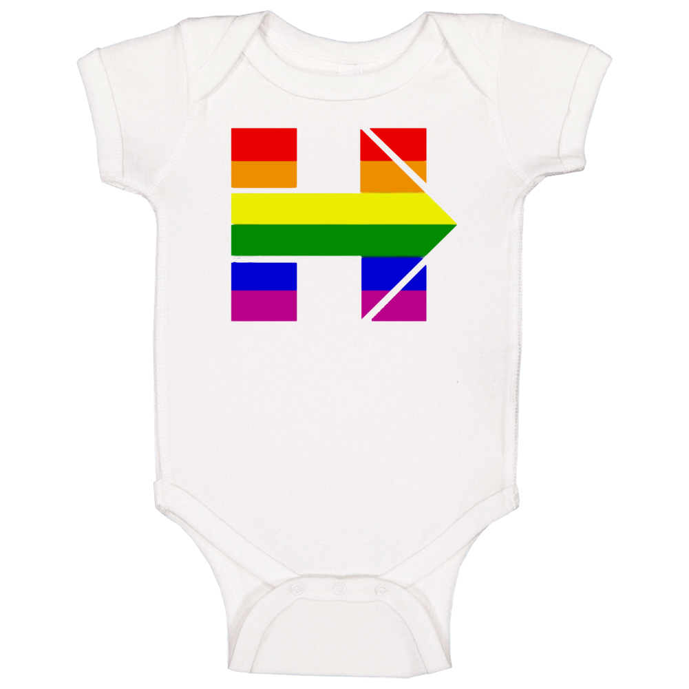 Hillary Clinton Rainbow H Presidential Campaign Baby One Piece