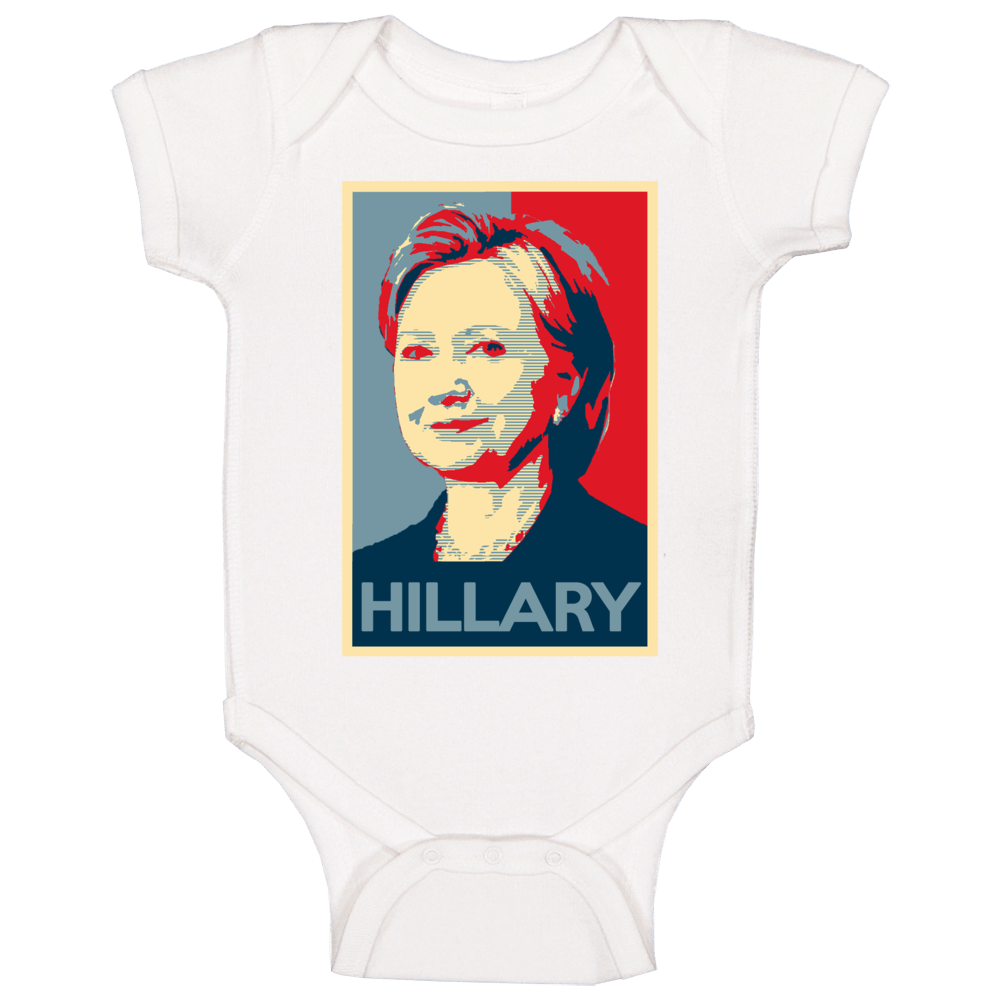 Obama Hope Style Poster Hillary Clinton Baby One Piece