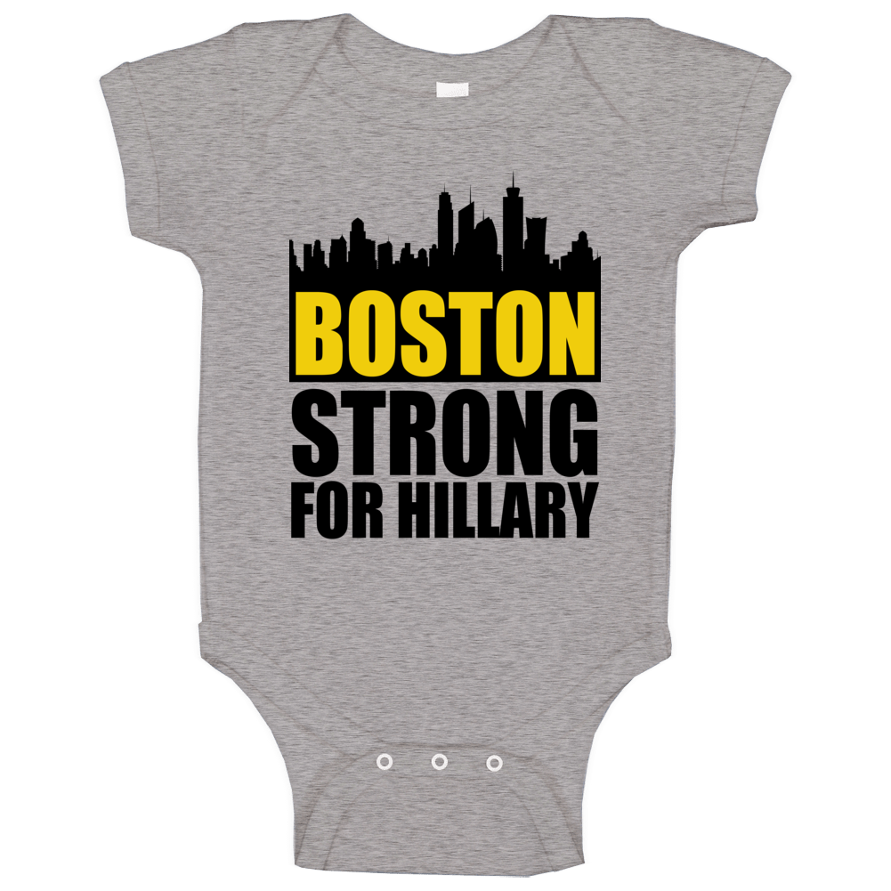 Boston Strong Skyline For Hillary Clinton 2016 Political Campaign Baby One Piece
