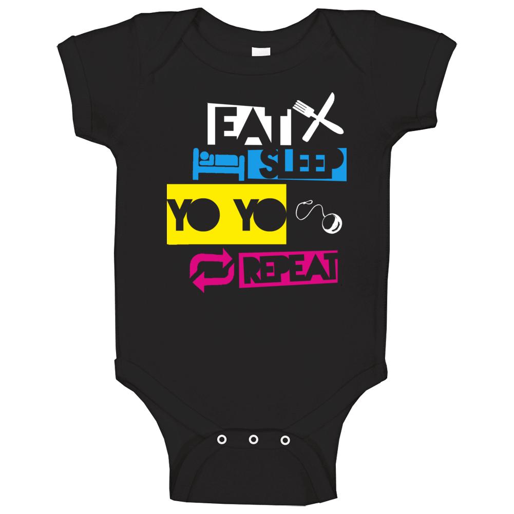 Eat Sleep Yo Yo Repeat Baby One Piece