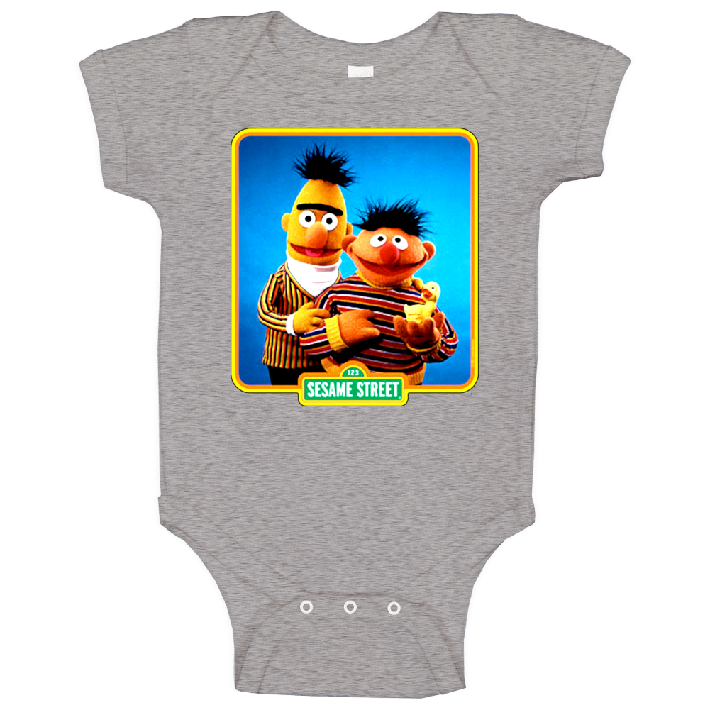 Ernie And Bert Old School Baby One Piece